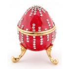 Метална декоративна кутия за бижута във формата на яйце - фаберже