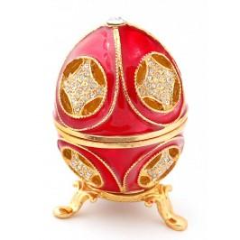 Метална декоративна кутийка за бижута във формата на яйце - фаберже