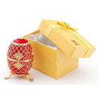 Кутийка за бижута във формата на яйце - фаберже, украсена с камъни