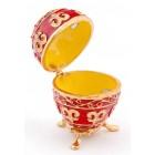 Кутийка за бижута във формата на яйце - фаберже, стилно декорирана с камъни