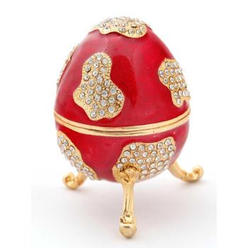 Декоративна кутийка за бижута във формата на яйце - фаберже