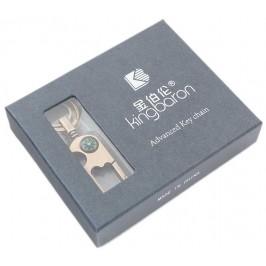 Метален ключодържател с компас - златист