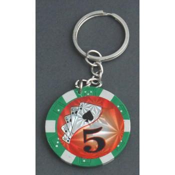 Сувенирен ключодържател във формата на жетон за казино