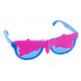 Малки карнавални очила с капаче - тип сенник във формата на пеперуда
