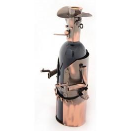 Метална поставка за вино - каубой