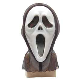 Карнавална маска - призрак с черен тензух за главата