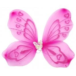 Светещи пеперудени крила с брокат и декоративна пеперудка