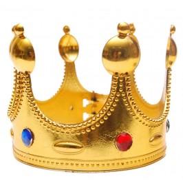 Парти артикул - златиста корона, изработена от PVC материал