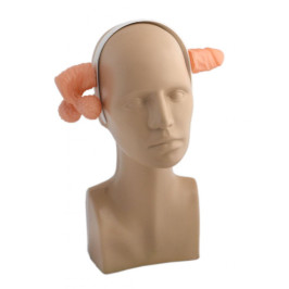 Парти аксесоар - диадема за глава с мъжки атрибут на две части