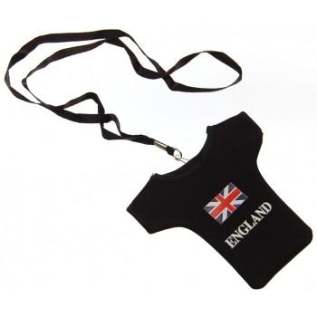Калъф за GSM с формата на тениска с надпис Англия и английският национален флаг