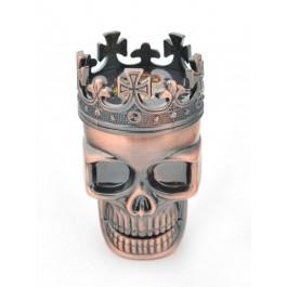 Метална мелничка за стриване на тютюн във формата на череп с корона