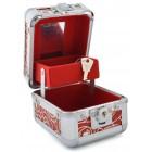Стилна метална кутия за бижута декорирана с брокат