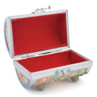 Стилна цилиндрична кутия за бижута от метал