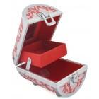 Метална кутия за бижута в цилиндрична форма