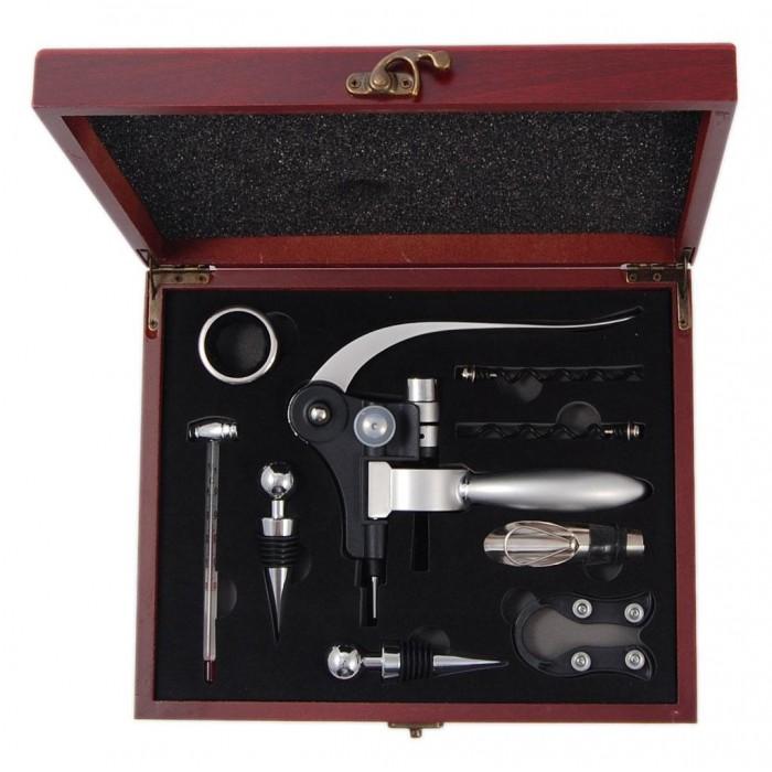 Комплект за вино от девет части в луксозна кутия