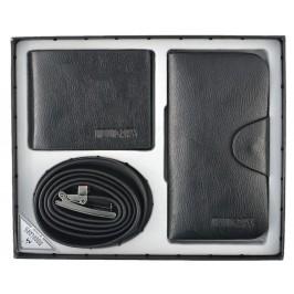 Подаръчен комплектът, включващ колан и два портфейла