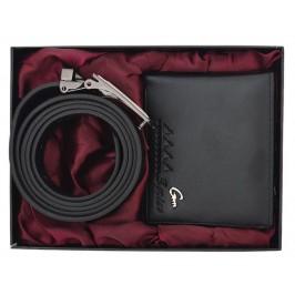 Луксозен подаръчен комплект, включващ колан и портфейл