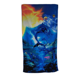Плажна хавлия - делфини