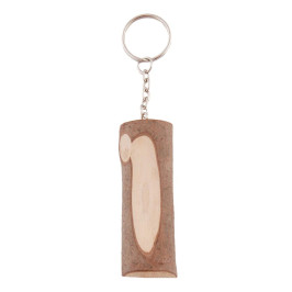 Сувенирен ключодържател с дървен елемент