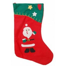Декоративен коледен чорап, аранжиран с фигурки