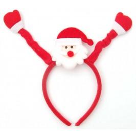 Коледна диадема - Дядо Коледа, изработена от мек полар върху пластмасова основа