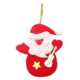 Коледна фигурка, изработена от плат