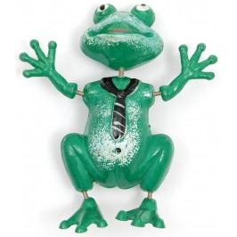 Сувенирна фигурка с магнит - жаба с вратовръзка - 5см