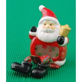 Декоративна фигурка - Дядо Коледа със светещ корем
