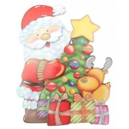 Коледна декорация от картон - тематични изображения с 3D елементи