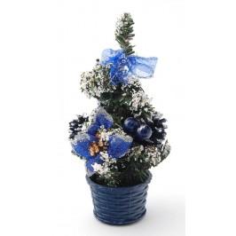 Красиво украсено декоративно коледно дръвче с поставка