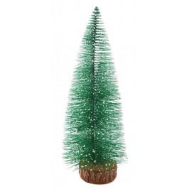 Коледна украса - декоративна елхичка с бели върхове