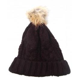 Плетена шапка с писклюл