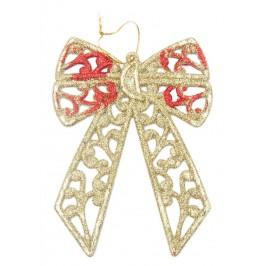 Коледна украса - панделка с брокат, подходяща за декорация