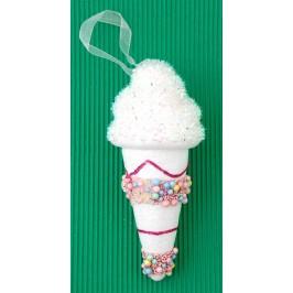 Коледна фигурка за окачване на елха - сладолед