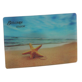 Магнитна пластинка с холограмни изображения - хотел в обзор и морска звезда