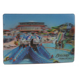 Магнитна пластинка с холограмни изображения - хотел в Приморско и сърфисти