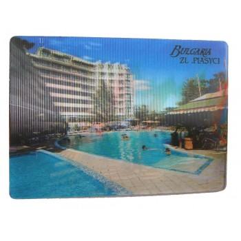 Магнитна пластинка с холограмни изображения - хотел в Златни пясъци и сърфисти