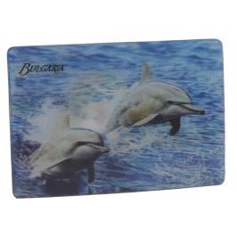 Магнитна пластинка с холограмни изображения - делфини