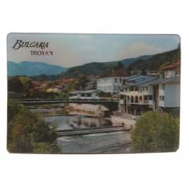 Магнитна пластинка с холограмни изображения - мост в Троян и слънчогледи