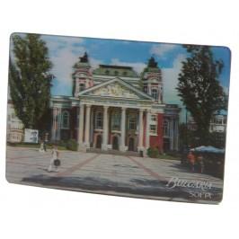 Магнитна пластинка с холограмни изображения - операта в София и слънчогледи