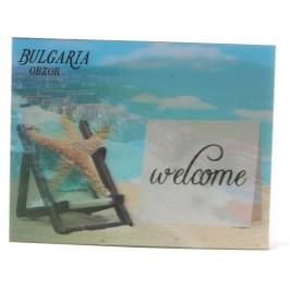 Магнитна пластинка с холограмни изображения - хотели в Обзор и морска звезда