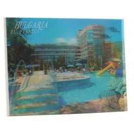 Магнитна пластинка с холограмни изображения - хотели в Златни пясъци и цветни рибки