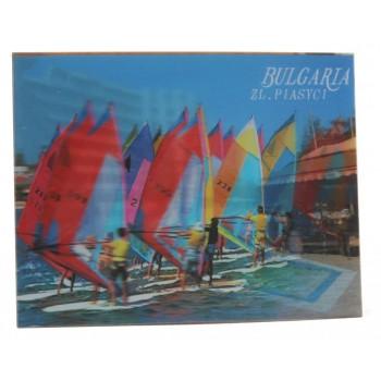 Магнитна пластинка с холограмни изображения - хотел на Златни пясъци и сърфисти