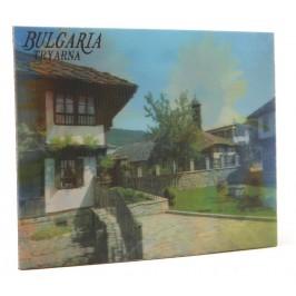 Магнитна пластинка с холограмни изображения - старинни къщи в Трявна и слънчогледи