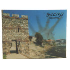 Магнитна пластинка с холограмни изображения - крепост в Созопол и рапан