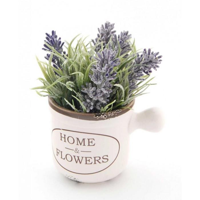 Декоративно цвете в саксия - тип чаша, изработена от керамика