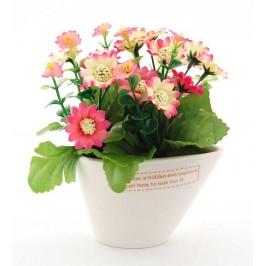 Декоративно цвете в саксия, изработена от керамика