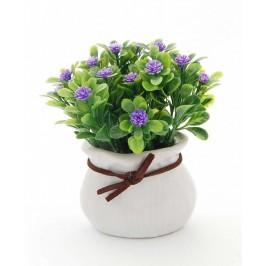 Декоративно цвете в саксия - тип торба с кожена връзка