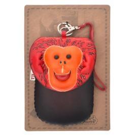 Портмоне за телефон с капаче във формата на маймуна