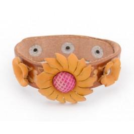 Красива гривна с декоративни цветя - маргаритка